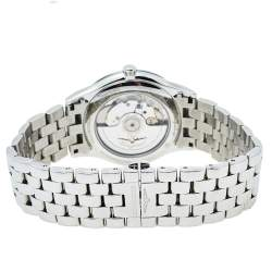 Longines Black Stainless Steel Diamonds Flagship L4.874.4.57.6 Automatic Men's Wristwatch 39 mm