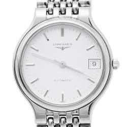 Longines White Stainless Steel La Grande Classique de Longines L5.634.4 Automatic Men's Wristwatch 33 mm