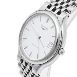 Longines White Stainless Steel La Grande Classique de Longines L5.634.4 Automatic Men's Wristwatch 33 mm