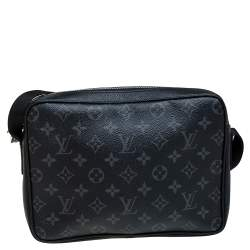 Louis Vuitton Black Taiga Leather and Monogram Eclipse Canvas Outdoor Messenger Bag