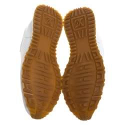 Louis Vuitton x Supreme White Leather Run Away Sneakers Size 43.5