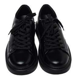 Louis Vuitton Black Leather Beverly Hills Sneakers Size 42