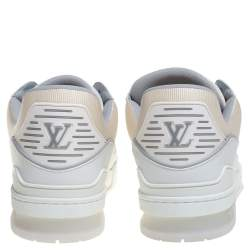 Louis Vuitton White Leather Trainer Sneakers Size 43