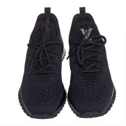 Louis Vuitton Black Knit Fabric V.N.R. Sneakers Size 41.5