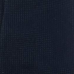Louis Vuitton Uniformes Navy Blue Jacquard Classic Silk Tie