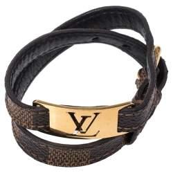 Louis Vuitton Damier Canvas Sign It Double Wrap Bracelet 19 CM