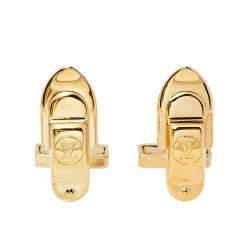Louis Vuitton Gold Tone Silver Cufflinks