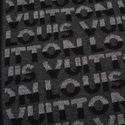 Louis Vuitton Anthracite Logo Monogram Split Scarf