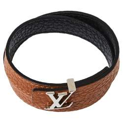 Louis Vuitton Bicolor LV Initials Taurillon Reversible Bracelet