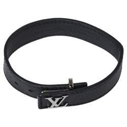 Louis Vuitton Black Leather LV Slim Bracelet
