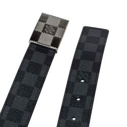 Louis Vuitton Damier Graphite Canvas Damier Plate Reversible Belt 95CM