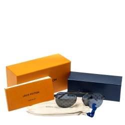 نظارة شمسية لوي فيتون مونوغرامية زد1019دبليو كلوكوايس رمادية داكنة/ لون رصاصي