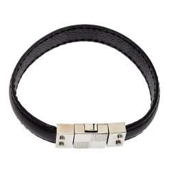 Louis Vuitton Black Damier Canvas & Leather Reversible Check It Bracelet