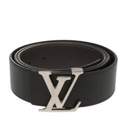 Louis Vuitton Black/Brown Leather Reversible Initiales Belt Size 100CM
