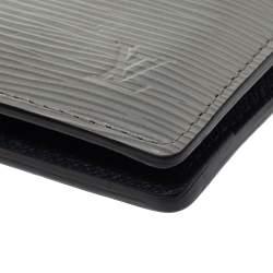 Louis Vuitton Blue/Grey Epi Leather and Damier Graphite Canvas Patchwork Multiple Wallet