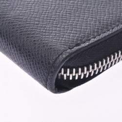 Louis Vuitton Black Taiga Leather Zippy Vertical Wallet