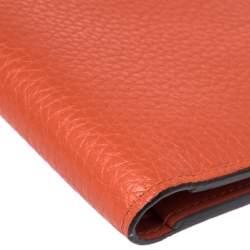 Louis Vuitton Orange Leather Bifold Multiple Wallet