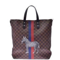 Louis Vuitton Damier Ebene Canvas Zebra Atlas Tote Bag