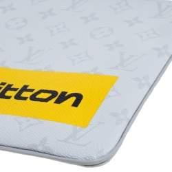 Louis Vuitton White Monogram Zipped Pouch GM