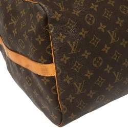 Louis Vuitton Mon Monogram Canvas Keepall Bandouliere 55 Bag