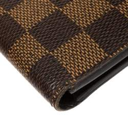 Louis Vuitton Damier Ebene Canvas Wallet