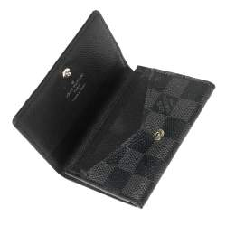 Louis Vuitton Damier Graphite Canvas Enveloppe Carte de Visite Card Holder