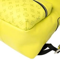 Louis Vuitton Yellow Monogram Taiga Leather Discovery Backpack PM