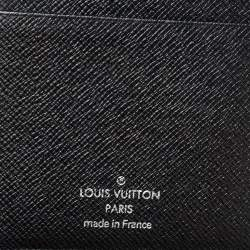 Louis Vuitton Black Taiga Leather Long Wallet