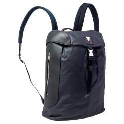 Louis Vuitton Navy Leather and Nylon V Line Pulse Backpack
