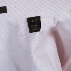 Louis Vuitton Rose Pink Cotton Button Down Shirt L