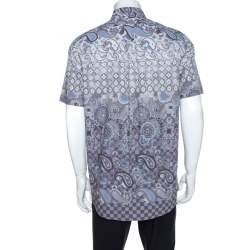 Louis Vuitton Multicolor Printed Cotton Short Sleeve Shirt XL