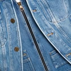 Louis Vuitton Blue Plain Rainbow XIX Denim Jacket M