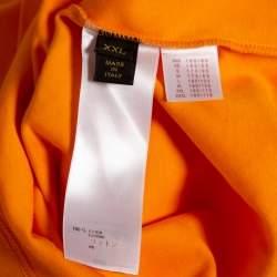 Louis Vuitton Orange Cotton Damier Pocket Printed Crewneck T-Shirt XXL