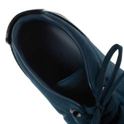 Louis Vuitton Blue/Black Suede and Leather Low Top Sneakers Size 40