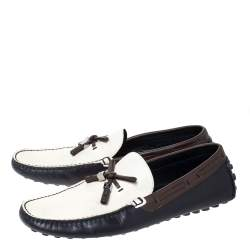 Louis Vuitton Tricolor Leather Bow Loafers Size 42