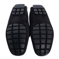 Louis Vuitton Black Suede Monte Carlo Loafers Size 43