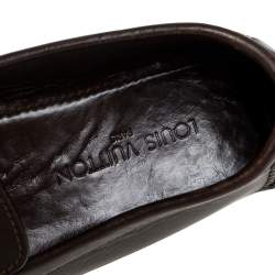 Louis Vuitton Dark Brown Leather Monte Carlo Loafers Size 43.5