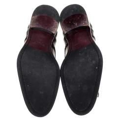 Louis Vuitton Black Brogue Leather Lace Up Derby Size 42.5