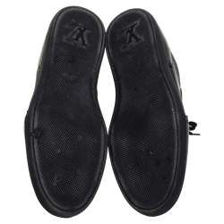 Louis Vuitton Black Nylon and Leather Low Top Sneakers Size 41.5