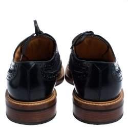 Louis Vuitton Blue Brogue Leather & Denim Lace Up Derby Size 44