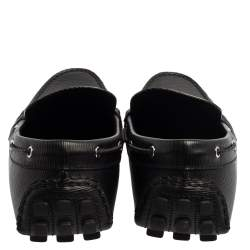 Louis Vuitton Black Epi Leather Braid Knot Detail Loafers Size 42.5