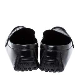 Louis Vuitton Black Leather Monte Carlo Loafers Size 45