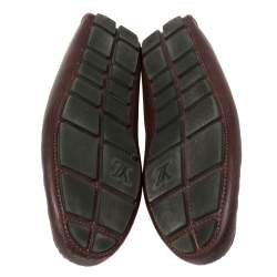 Louis Vuitton Burgundy Epi Leather Shade Penny Loafers Size 42.5