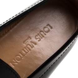 حذاء لوفرز لوى فيتون هوكينهايم جلد أسود مقاس 42