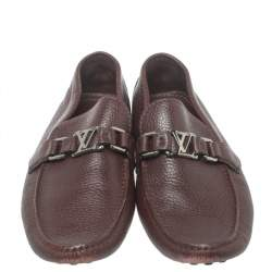 Louis Vuitton Burgundy Leather Hockenheim Loafers Size 41.5