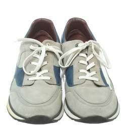 حذاء رياضى لوى فيتون أربطة ميلز جلد وسويدى رمادى مقا س 44.5