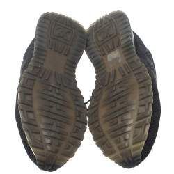 حذاء رياضى لوى فيتون ران أوى جلد وتريكو داميه أسود مقاس 41