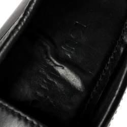 حذاء موكاسين لوى فيتون مونتيغن جلد لامع أسود مقاس 39.5