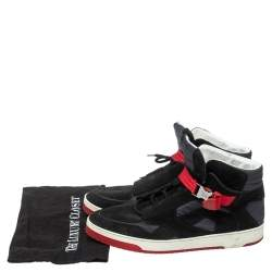 Louis Vuitton Black Suede And Fabric Slipstream High Top Sneakers Size 44.5