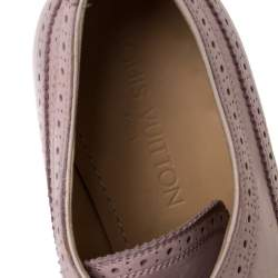 Louis Vuitton Pink Brogue Nubuck Leather Melrose Derby Size 43
